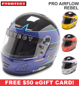 Racing Helmet Deals - Pyrotect Helmet Deals - Pro Airflow Rebel Graphic - SALE $407.87 - SAVE $71