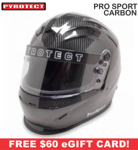 Racing Helmet Deals - Pyrotect Helmet Deals - ProSport Carbon Helmet - SALE $509.87 - SAVE $89