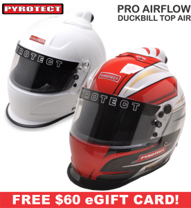 Racing Helmet Deals - Pyrotect Helmet Deals - Pro Airflow Duckbill Top Forced Air Helmets - SALE $509.87 - SAVE $89