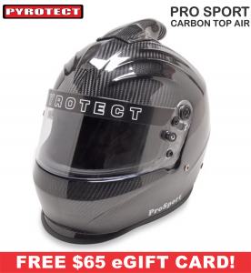 Racing Helmet Deals - Pyrotect Helmet Deals - ProSport Carbon Top Forced Air Helmet - SALE $551.87 - SAVE $97