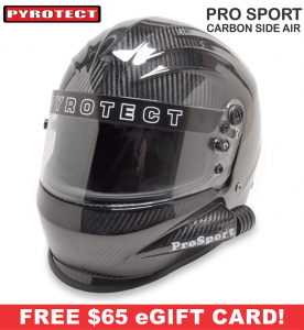 Racing Helmet Deals - Pyrotect Helmet Deals - ProSport Carbon Side Forced Air Helmet - SALE $551.87 - SAVE $97