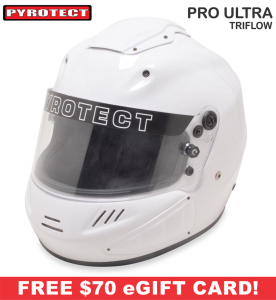 Racing Helmet Deals - Pyrotect Helmet Deals - Pro Ultra Triflow Helmet - SALE $577.87 - SAVE $101