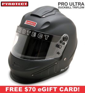 Racing Helmet Deals - Pyrotect Helmet Deals - Pro Ultra Duckbill Triflow Helmet - SALE $594.87 - SAVE $104
