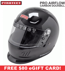 Racing Helmet Deals - Pyrotect Helmet Deals - Pro Airflow Carbon Duckbill Helmet - SALE $679 - SAVE $120