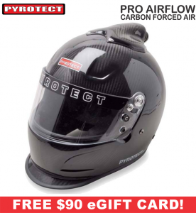 Racing Helmet Deals - Pyrotect Helmet Deals - Pro Airflow Carbon Duckbill Top Forced Air Helmet - SALE $764.87 - SAVE $134