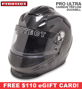 Racing Helmet Deals - Pyrotect Helmet Deals - Pro Ultra Triflow Carbon Duckbill Helmet - SALE $934.87 - SAVE $164