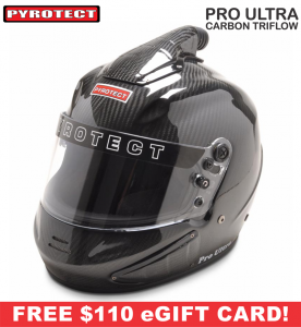 Racing Helmet Deals - Pyrotect Helmet Deals - Pro Ultra Triflow Carbon Helmet - SALE $917.87 - SAVE $161