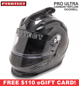 Helmets - Pyrotect Helmets - ON SALE! - Pyrotect Pro Ultra Carbon Duckbill Triflow Helmet- SALE $879 - SAVE $220