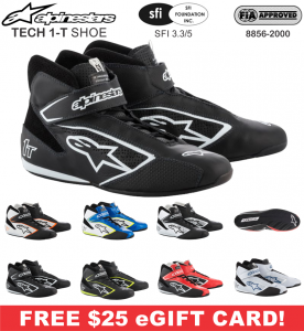 Racing Shoes - Shop All Auto Racing Shoes - Alpinestars Tech 1-T Shoes - $269.95