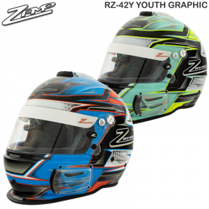 Helmets - Youth Helmets - Zamp RZ-42Y Youth Graphic Racing Helmet - 206.96