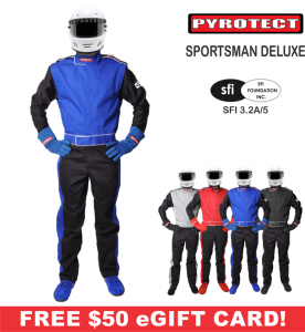 Racing Suits - Pyrotect Racing Suits - Pyrotect Sportsman Deluxe 2 Layer Nomex Suit - $499