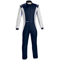 Safety Equipment - Sparco - Sparco Competition US Boot Cut Suit - Navy/White