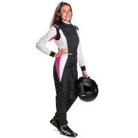 Safety Equipment - Sparco - Sparco Competition+ Lady RS-5.1 Suit - Black/White