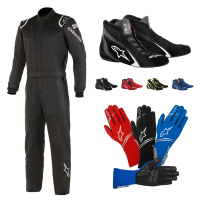 Racing Suits - Racing Suit Packages - Alpinestars - Alpinestars Stratos Suit Package - Black