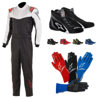 Racing Suits - Racing Suit Packages - Alpinestars - Alpinestars Stratos Suit Package - Black/White/Red