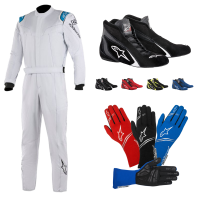 Racing Suits - Racing Suit Packages - Alpinestars - Alpinestars Stratos Suit Package - Silver/Blue