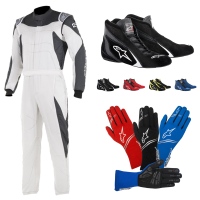 Racing Suits - Racing Suit Packages - Alpinestars - Alpinestars GP Race Suit Package - White/Anthracite