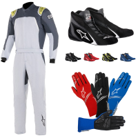 Alpinestars - Alpinestars GP Pro Comp Suit Package - Silver/Blue/Asphalt/Lime