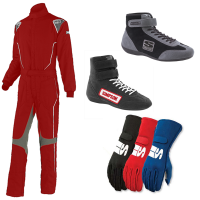 Racing Suits - Racing Suit Packages - Simpson Race Products - Simpson Helix Suit Package - Red
