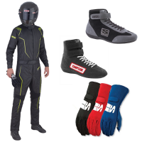 Racing Suits - Racing Suit Packages - Simpson Race Products - Simpson DNA Suit Package - Black