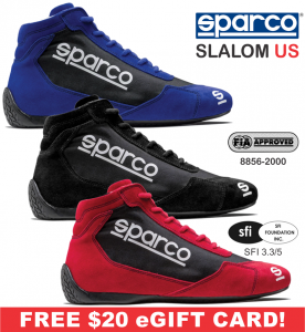 Racing Shoes - Sparco Racing Shoes - Sparco Slalom US Shoe - $178.99