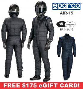 Racing Suits - Sparco Racing Suits - Sparco AIR-15 Drag Racing Suit - $1774.99
