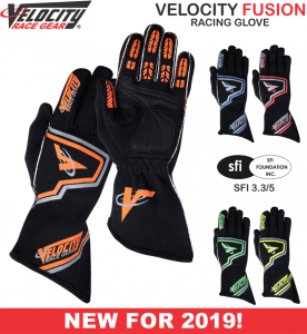 Racing Gloves - Shop All Auto Racing Gloves - Velocity Fusion Gloves - $49.99