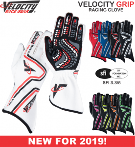 Racing Gloves - Shop All Auto Racing Gloves - Velocity Grip Gloves - $99.99