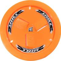 Wheels and Tire Accessories - Dirt Defender Racing Products - Dirt Defender Quick Release Fastener Mud Cover Vented Cover Only Plastic - Fluorescent Orange