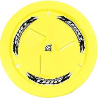 Wheels and Tire Accessories - Dirt Defender Racing Products - Dirt Defender Quick Release Fastener Mud Cover Vented Cover Only Plastic - Fluorescent Yellow