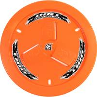 Wheels and Tire Accessories - Dirt Defender Racing Products - Dirt Defender Racing Products Quick Release Fastener Mud Cover Vented Cover Only Plastic - Orange