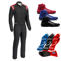 Safety Equipment - Sparco - Sparco Conquest R506 Boot Cut Suit Package - Black/Red