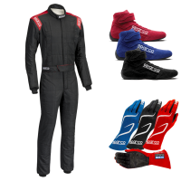 Safety Equipment - Sparco - Sparco Conquest R506 Suit Package - Black/Red
