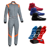 Racing Suits - Race Suit Packages - Sparco - Sparco Victory RS-7 Suit Package - Grey/Orange