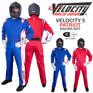 Racing Suits - Velocity Race Gear Race Suits - Velocity 5 Patriot Suit - SALE $249.99 - SAVE $80