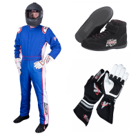 Safety Equipment - Velocity Race Gear - Velocity 5 Patriot Suit Package - Blue/White/Red
