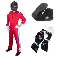 Safety Equipment - Velocity Race Gear - Velocity 5 Patriot Suit Package - Red/White/Blue
