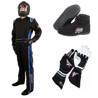 Safety Equipment - Velocity Race Gear - Velocity 1 Sport Suit Package - Black/Blue