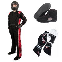 Velocity Race Gear - Velocity 1 Sport Suit Package - Black/Red