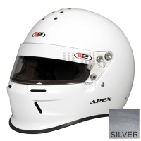 Safety Equipment - B2 Helmets - B2 Apex Helmet - Metallic Silver