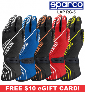 Racing Gloves - Sparco Gloves - Sparco Lap RG-5 Racing Gloves - $118.99