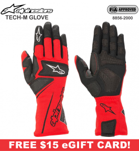Racing Gloves - Shop All Auto Racing Gloves - Alpinestars Tech-M Gloves - $149.95