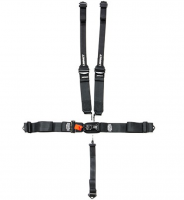 Impact - Impact 16.1 Racer Series Latch & Link Restraints w/HANS Double Shoulder Adjust - 5 Point - Pull Down Lap