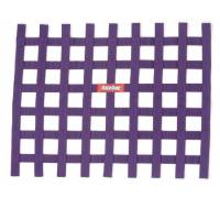 "Ribbon Window Nets - 18"" x 24"" Ribbon Window Nets - RaceQuip - RaceQuip Ribbon Window Net - Purple - 18"" x 24"" - Non-SFI"