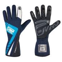 OMP Racing - OMP First Evo Gloves - Blue/Cyan  - Medium - Image 1