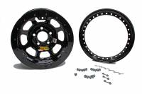 "Aero Race Wheel - Aero 33 Series Beadlock Wheel - Black - 13"" x 8"" - 2"" Back Spacing - 4 x 4.00"" Bolt Circle - 21 lbs."
