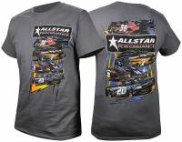 Shirts & Sweatshirts - Allstar Performance T-Shirts - Allstar Performance - Allstar Performance Circle Track T-Shirt - Dark Gray - X-Large