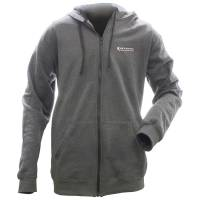 Crew Apparel - Allstar Performance - Allstar Performance Full-Zip Hooded Sweatshirt - Charcoal - Large