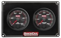 Analog Gauge Panels - 2 Gauge Dash Panels - QuickCar Racing Products - QuickCar Redline 2 Gauge Panel - OP/WT