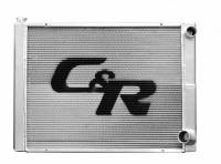 "Cooling & Heating - C&R Racing - C&R Racing Lightweight USTMS/IMCA Modified Double Pass Radiator - 26"" x 19"" - 1-3/4"" Depth - RH Inlet / RH Outlet"